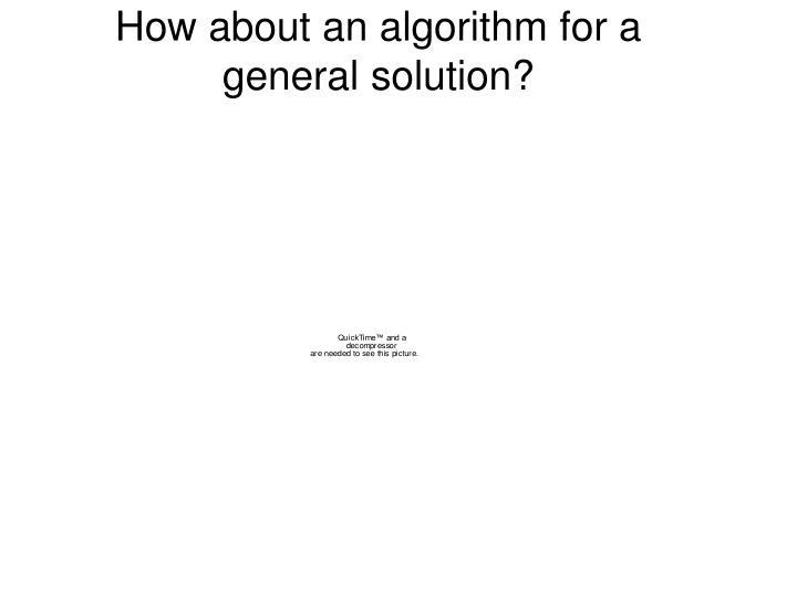How about an algorithm for a general solution?