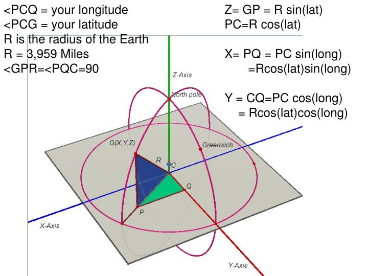 <PCQ = your longitude