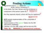 pending actions
