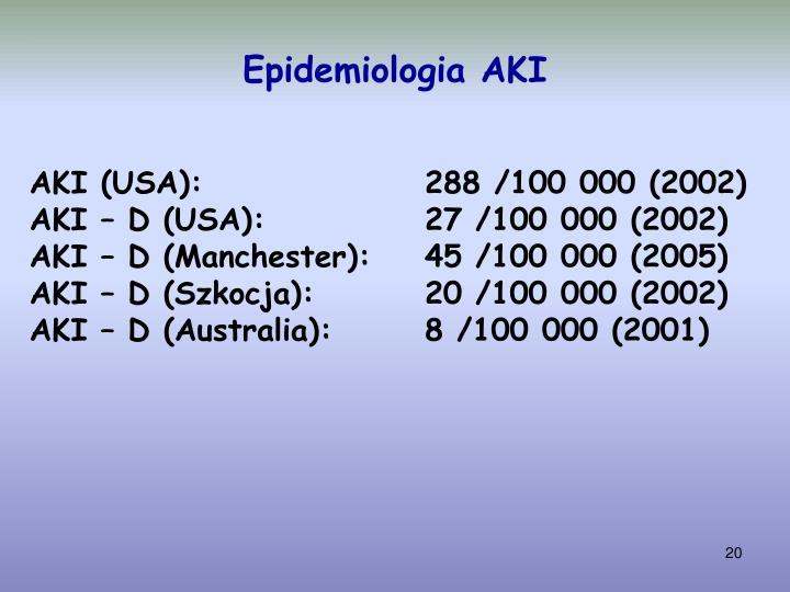Epidemiologia AKI