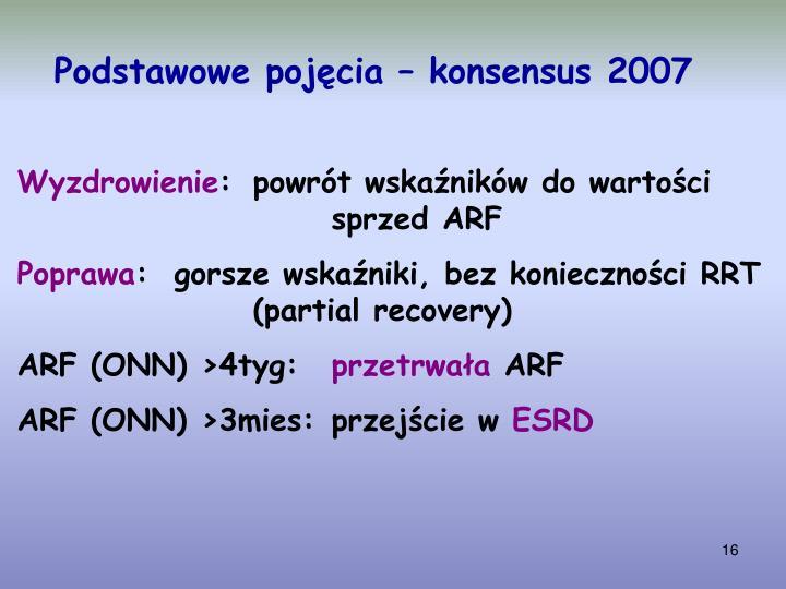 Podstawowe pojęcia – konsensus 2007