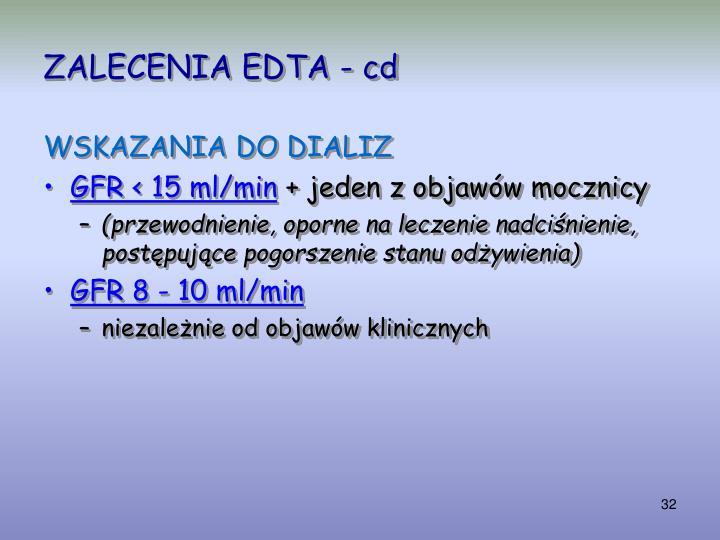 ZALECENIA EDTA - cd