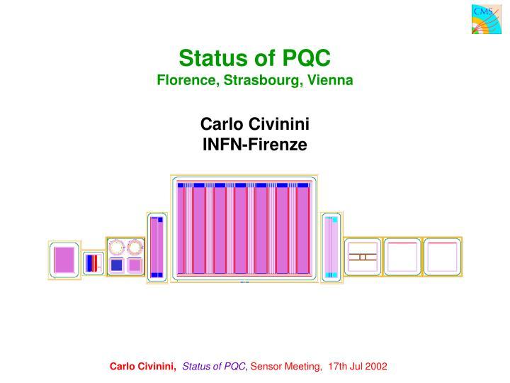 Status of PQC