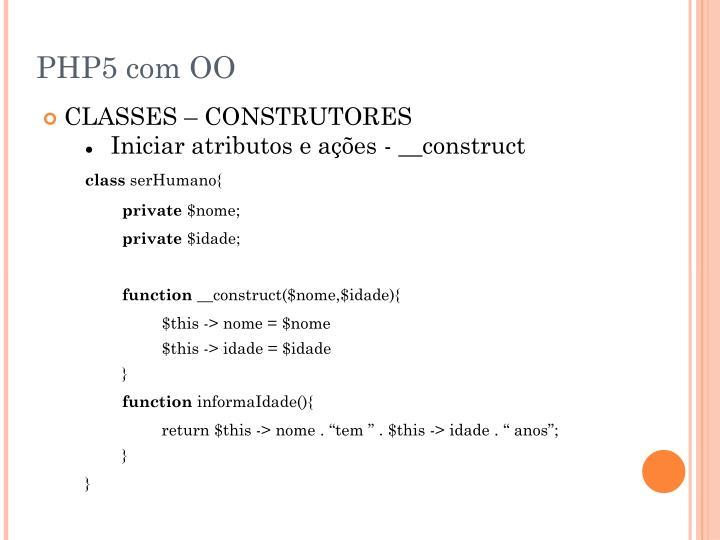 PHP5 com OO