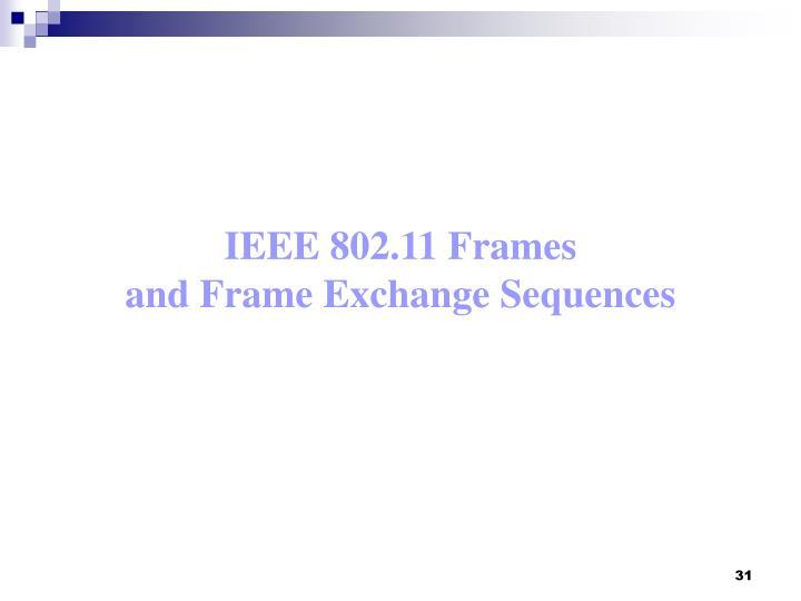 IEEE 802.11 Frames