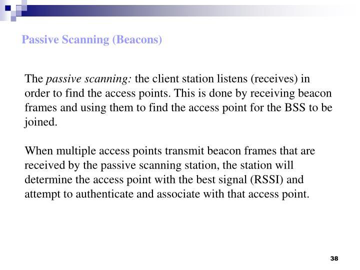 Passive Scanning (Beacons)