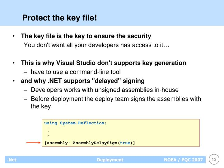 Protect the key file!