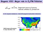 biogenic voc major role in o 3 pm pollution