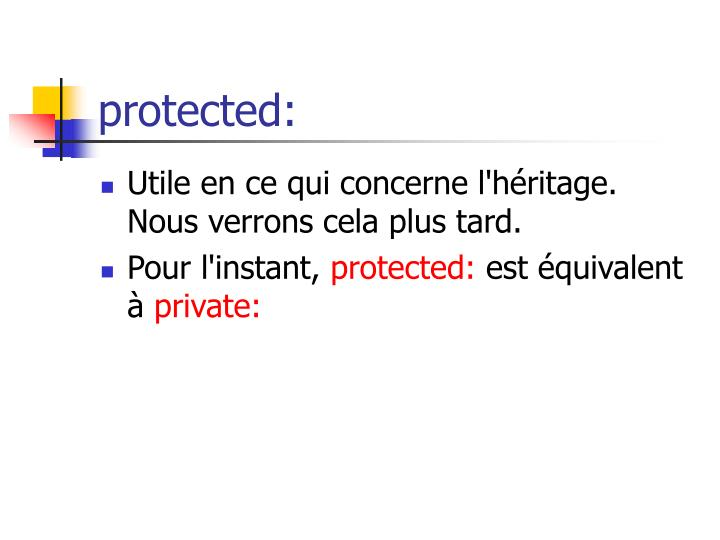 protected: