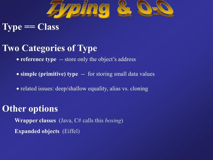 Typing & O-O