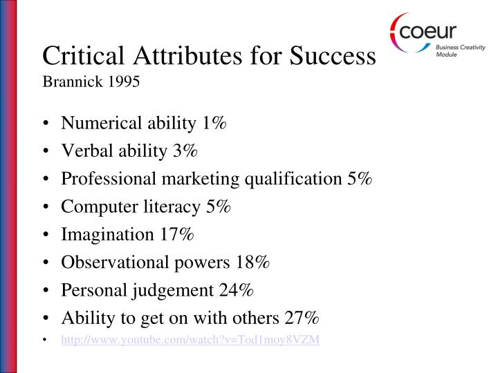 Critical Attributes for Success