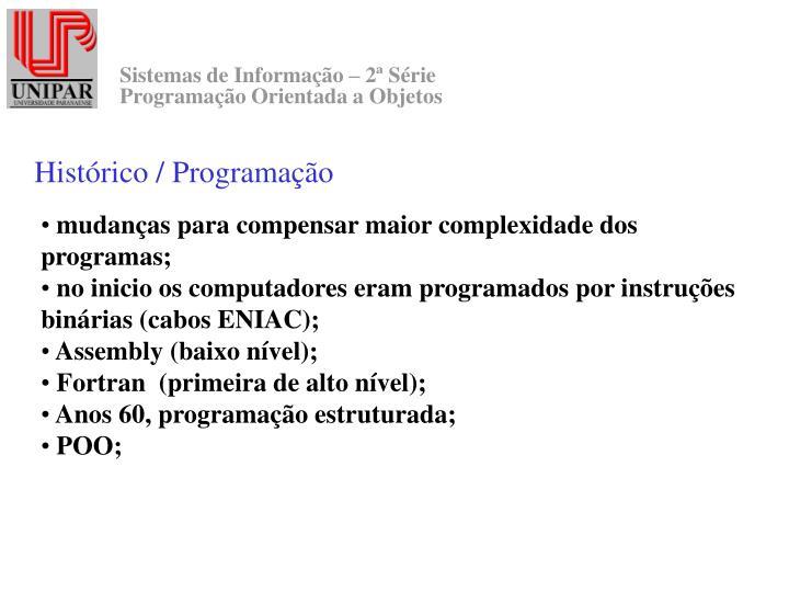 Histórico / Programação
