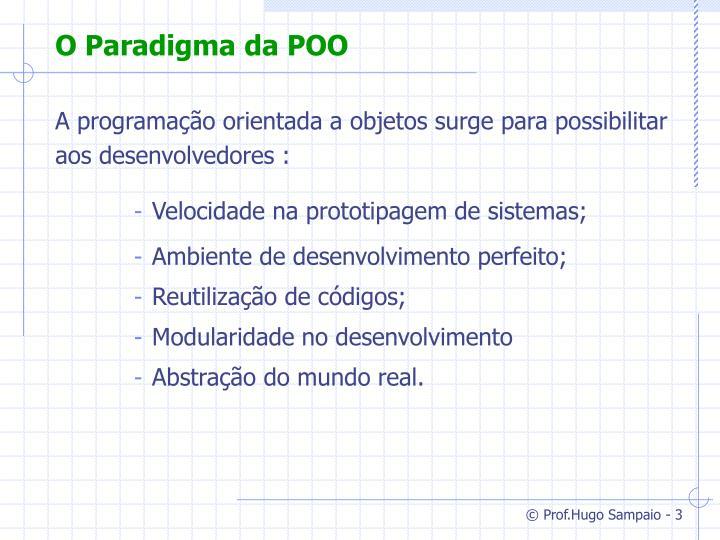 O Paradigma da POO
