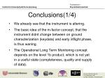 conclusions 1 4