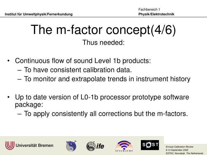 The m-factor concept(4/6)