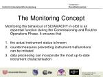 the monitoring concept