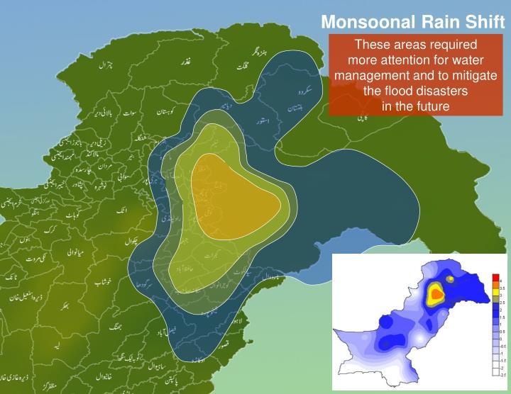 Monsoonal Rain Shift