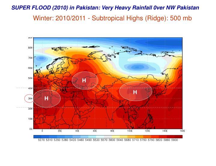 SUPER FLOOD (2010) in Pakistan: Very Heavy Rainfall 0ver NW Pakistan