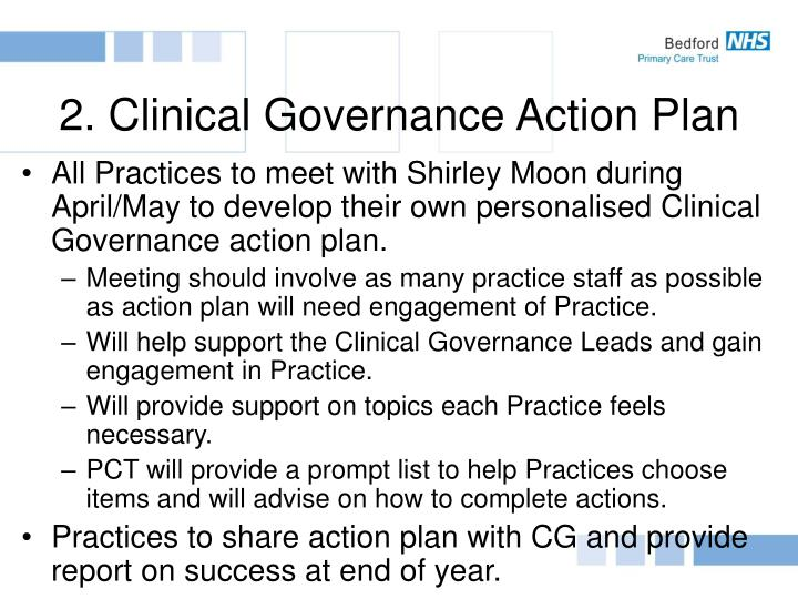 2. Clinical Governance Action Plan