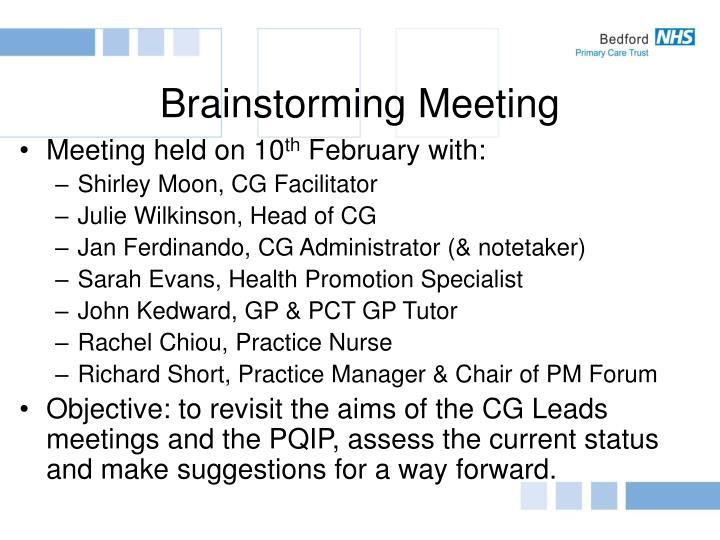 Brainstorming Meeting