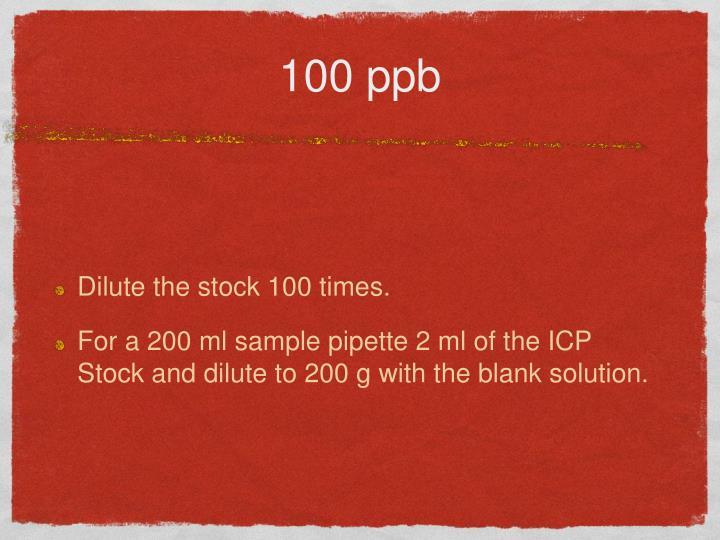 100 ppb