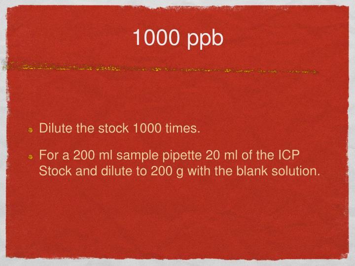 1000 ppb