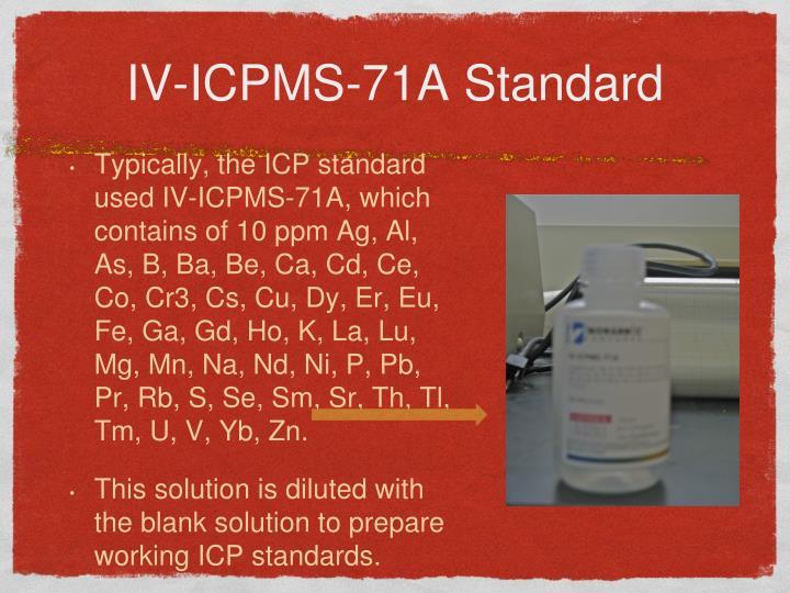 IV-ICPMS-71A Standard