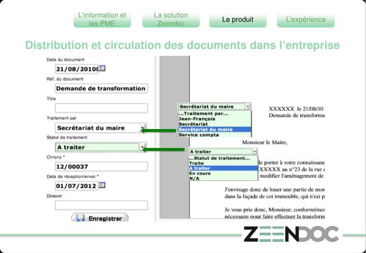 Distribution et circulation des documents dans l