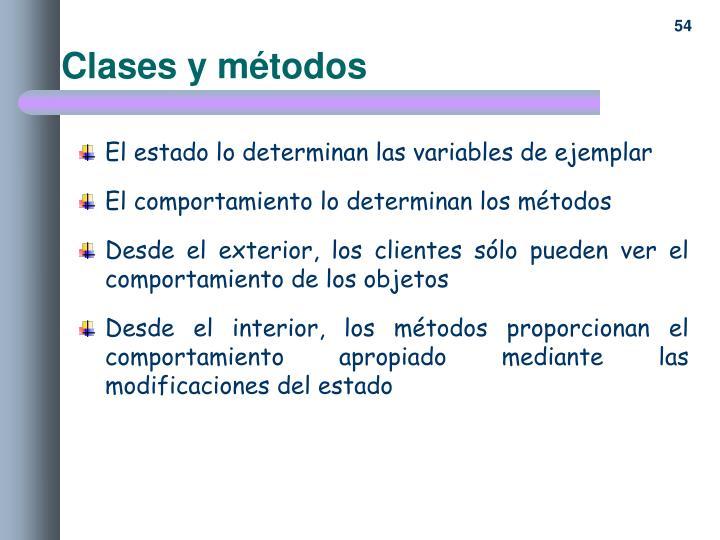 Clases y métodos
