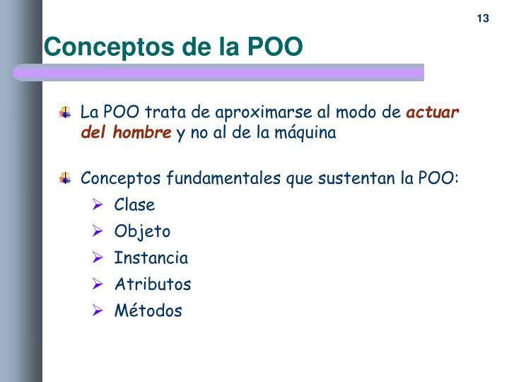 Conceptos de la POO