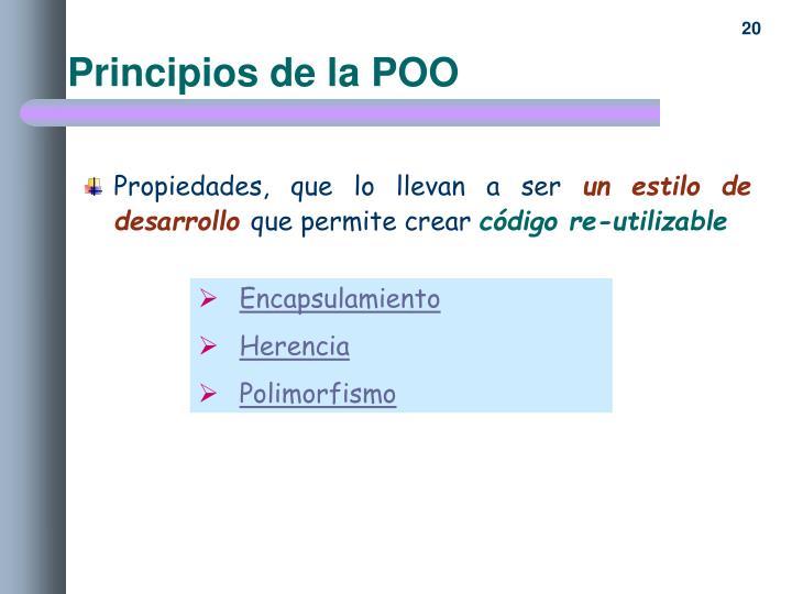 Principios de la POO