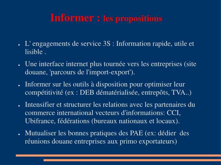 Informer :