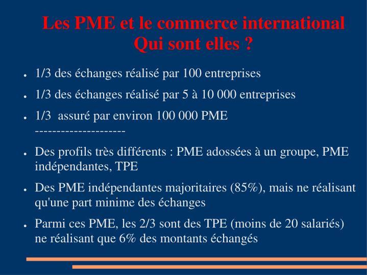 Les PME et le commerce international