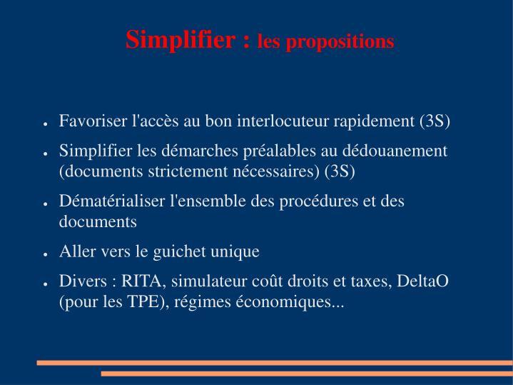 Simplifier :