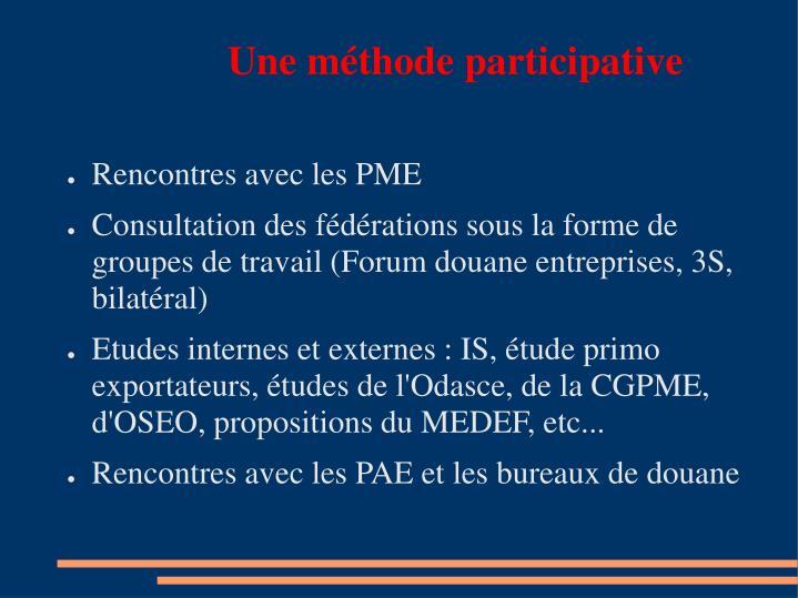 Une méthode participative