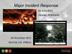 major incident response