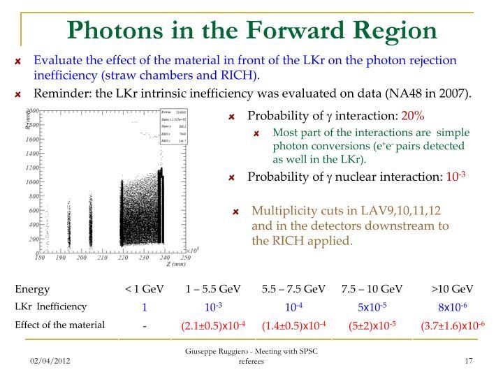 Photons in the Forward Region