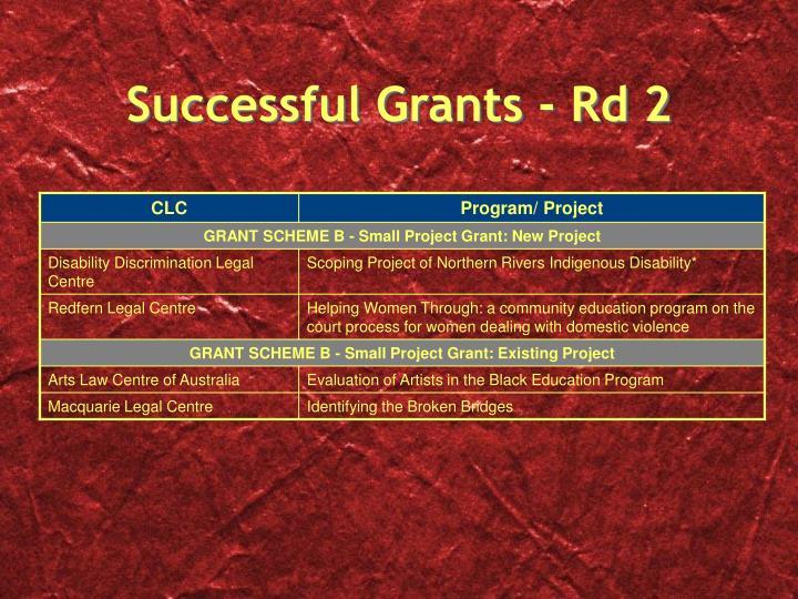 Successful Grants - Rd 2