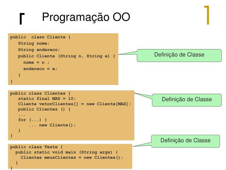 Programação OO