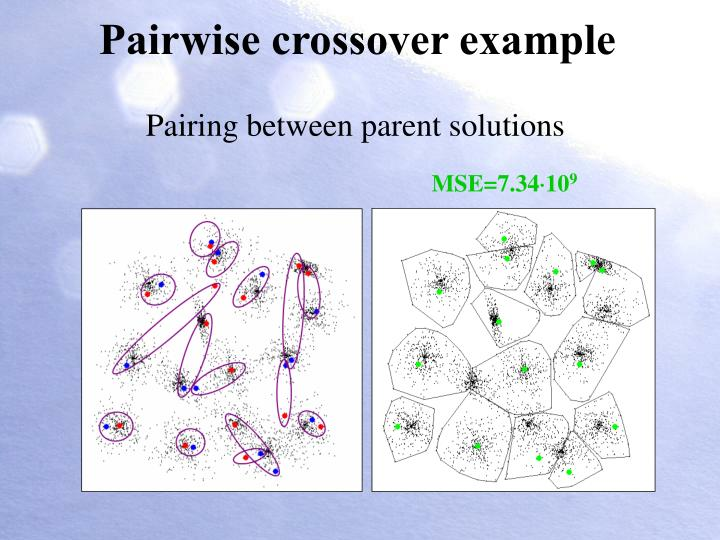 Pairwise crossover example