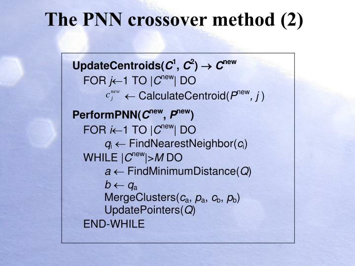The PNN crossover method