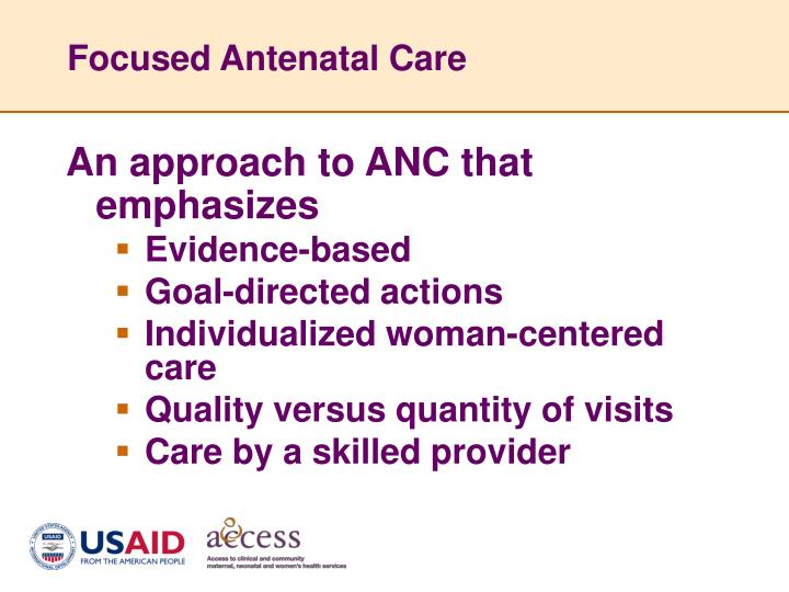 Focused Antenatal Care