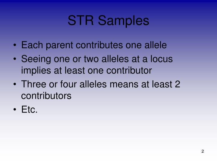 STR Samples