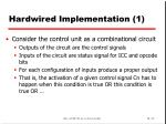 hardwired implementation 1