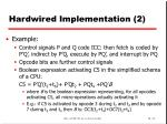 hardwired implementation 2