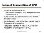 internal organization of cpu