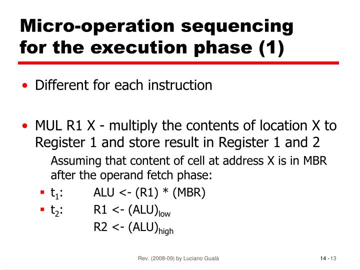 Micro-operation sequencing