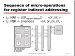 sequence of micro operations for register indirect addressing