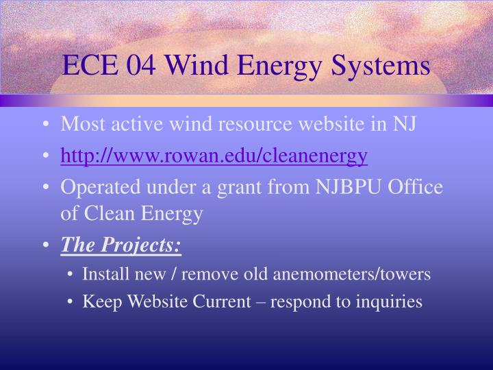 ECE 04 Wind Energy Systems