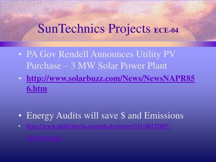 SunTechnics Projects